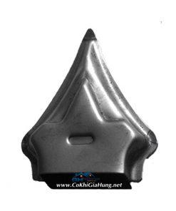 Nắp chụp đầu sắt hộp hàng rào, cửa cổng sắt bằng thép loại A tole dày CDS-308