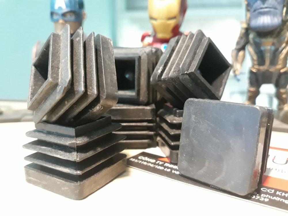Bịt nhựa đầu sắt hộp - chấp luôn sắt dày 3mm vẫn dùng được luôn ạ