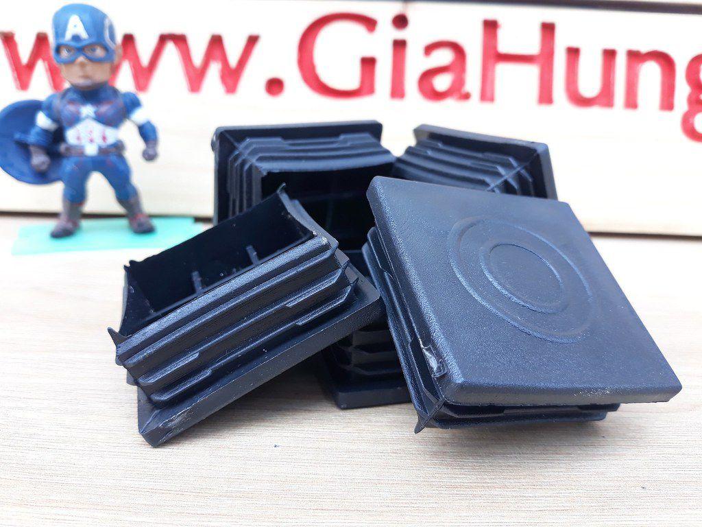 Bịt nhựa đầu sắt/ inox hộp 50x50 CDS-416 chuyên dùng cho bàn kệ khung sắt/ inox