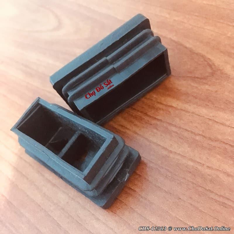 Bịt nhựa chữ nhật 20x40 loại A màu đen CDS-12563